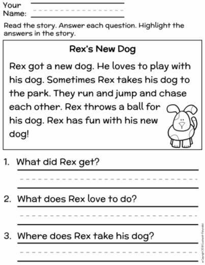 This Is A Set Of Two Worksheets To Help First Graders