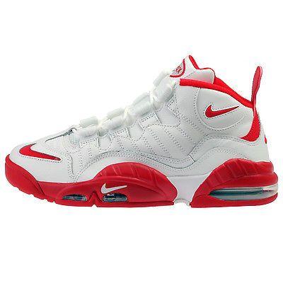 6ffbc37d1458d8 Nike Air Max Sensation Mens 805897-101 White Red Webber Basketball Shoes Sz  8.5