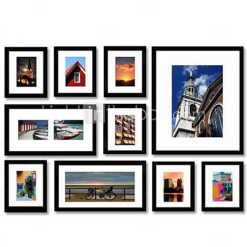 Picture Frames Modern/Contemporary Rectangular , Wood 10   Photo ...