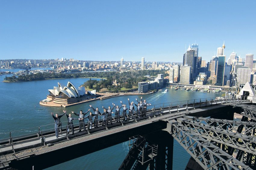"""Want to see Sydney from the best spot? It has to be climbing to the top of the Sydney Harbour Bridge...!!! With award winning """"bridgeclimb"""". #things #to #do #Sydney #Australia"""