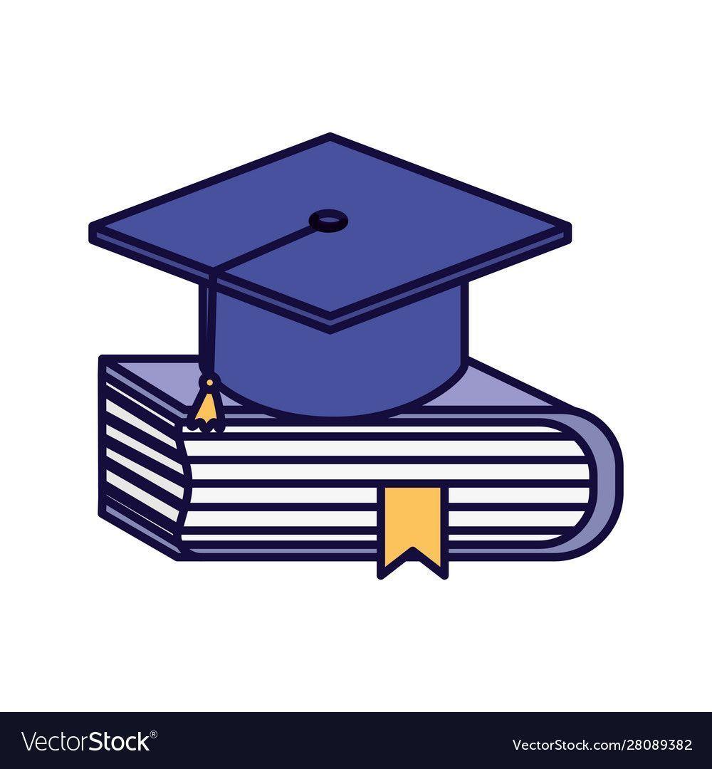 Learning Online Graduation Hat Book Education Vector Image Ad Graduation In 2020 Graduation Hat Online Learning Disney Graduation