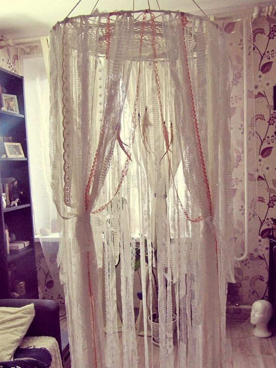 Boho Bed Crown - Baby Crib Canopy - Gypsy Nursery Decor ...
