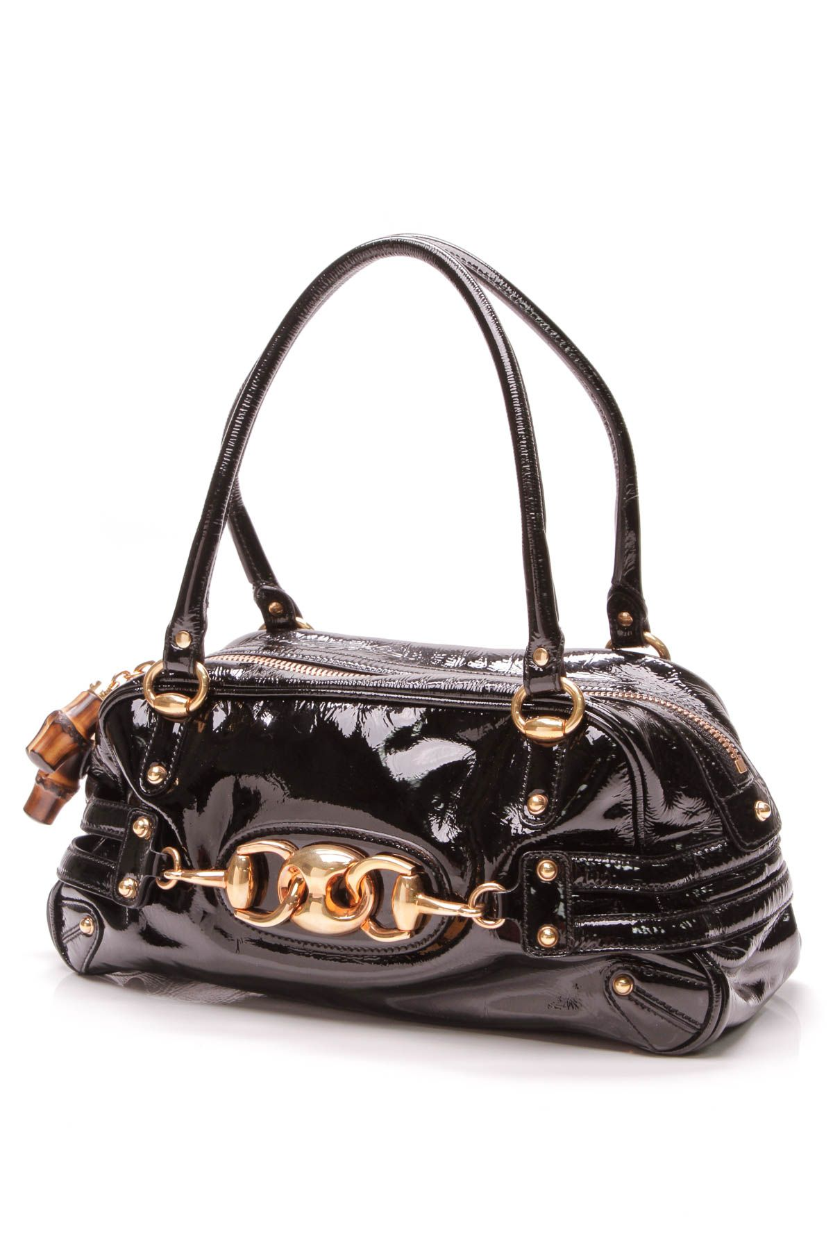 8a9217234ca060 Wave Boston Bag - Black Patent Leather in 2019 | Gucci Glam | Bags ...