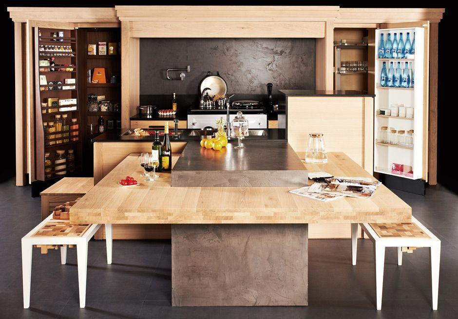kegin une cuisine de bois brut et l esprit. Black Bedroom Furniture Sets. Home Design Ideas