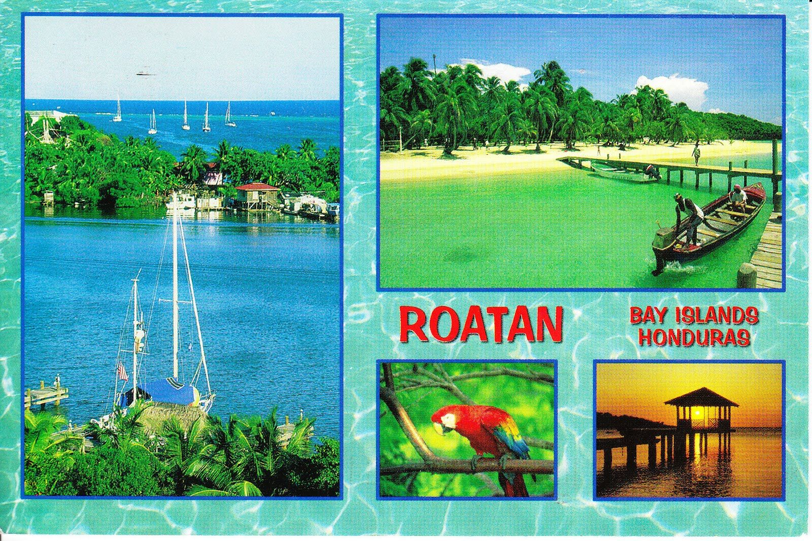 roatan honduras postcard | Here\'s Jean Pierre\'s second card of the ...