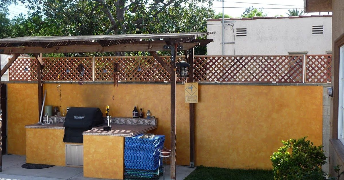 Installed 4ft x 6ft Redwood Trellis to existing block wall