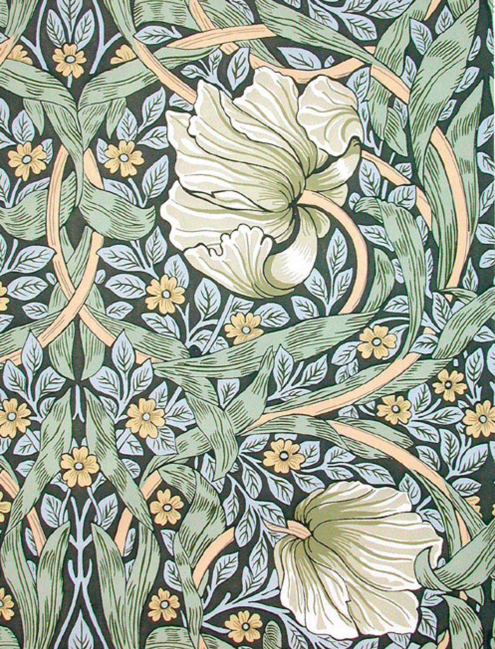 William Morris Pimpernel Floral Design Statuette William