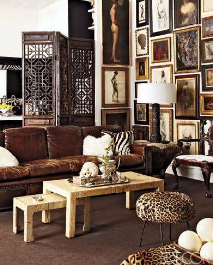 Brown Beauty Elle Decor Eclectic Decor Decor
