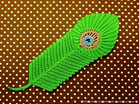 Ergahandmade Crochet Peacock Feather Motif Diagram Knit And