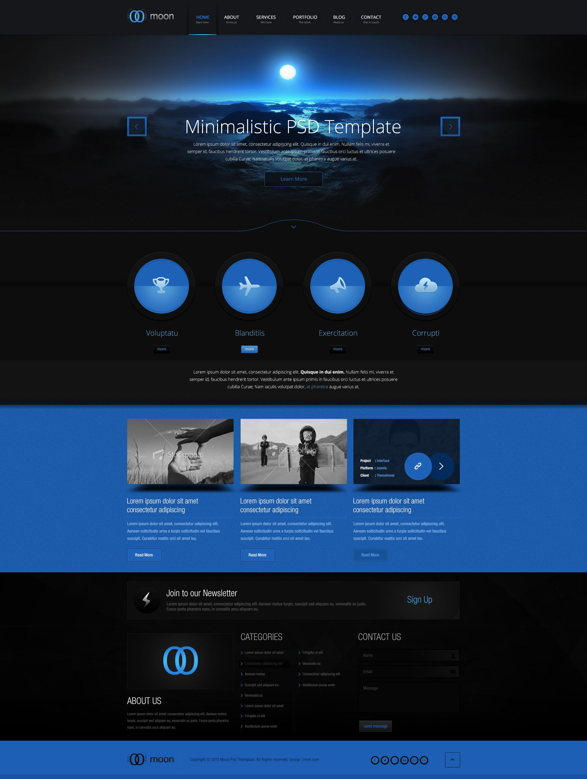 simple powerful yet dark web design inspiration web