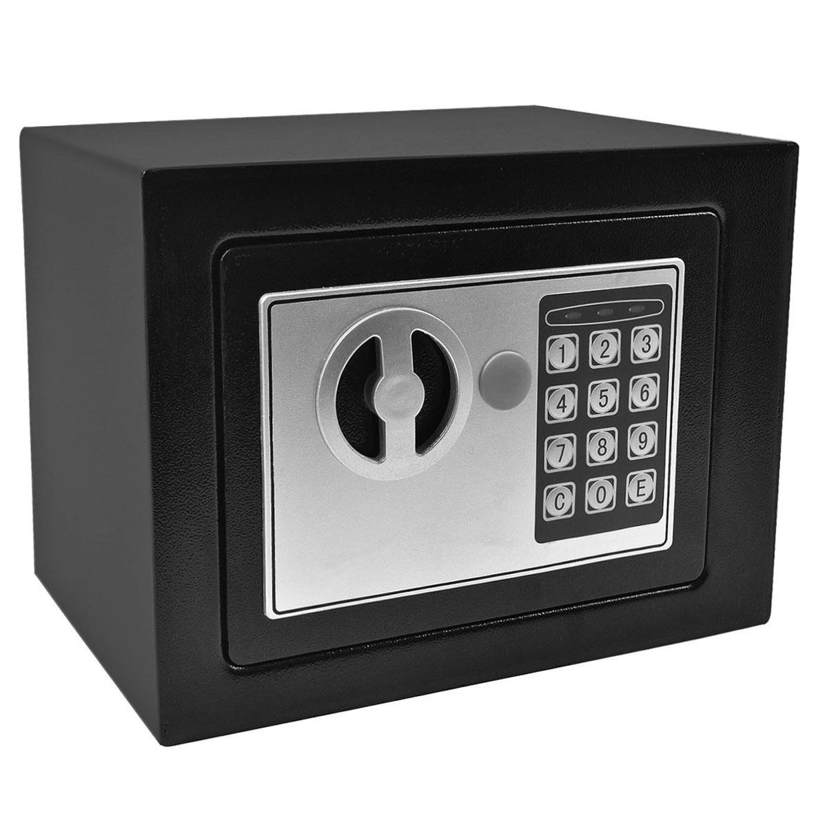 Small Digital Electronic Safe Box Keypad Lock Home Office Hotel Gun 2 Color New Black