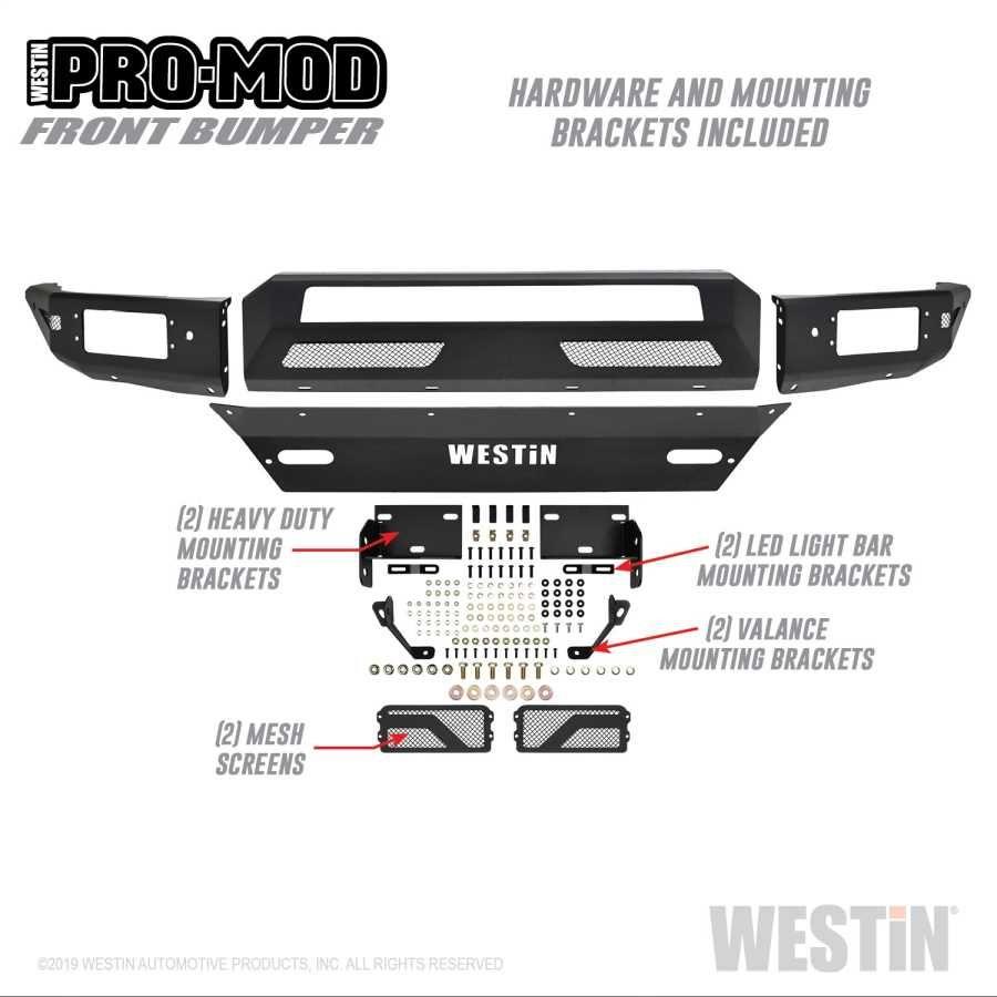 Parts Pro Mod Front Bumper 99712 6410 Ymm 2018 Chevrolet Silverado 1500 Ltz Tri State Line X Chevrolet Silverado Bumpers Westin
