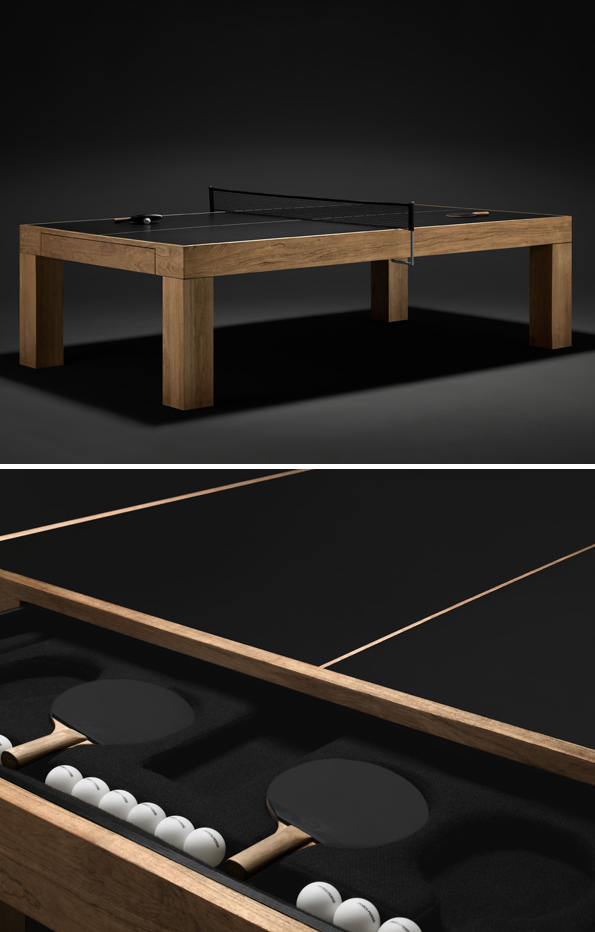 Table Tennis Room Design: The World's Sexiest Ping-Pong Table