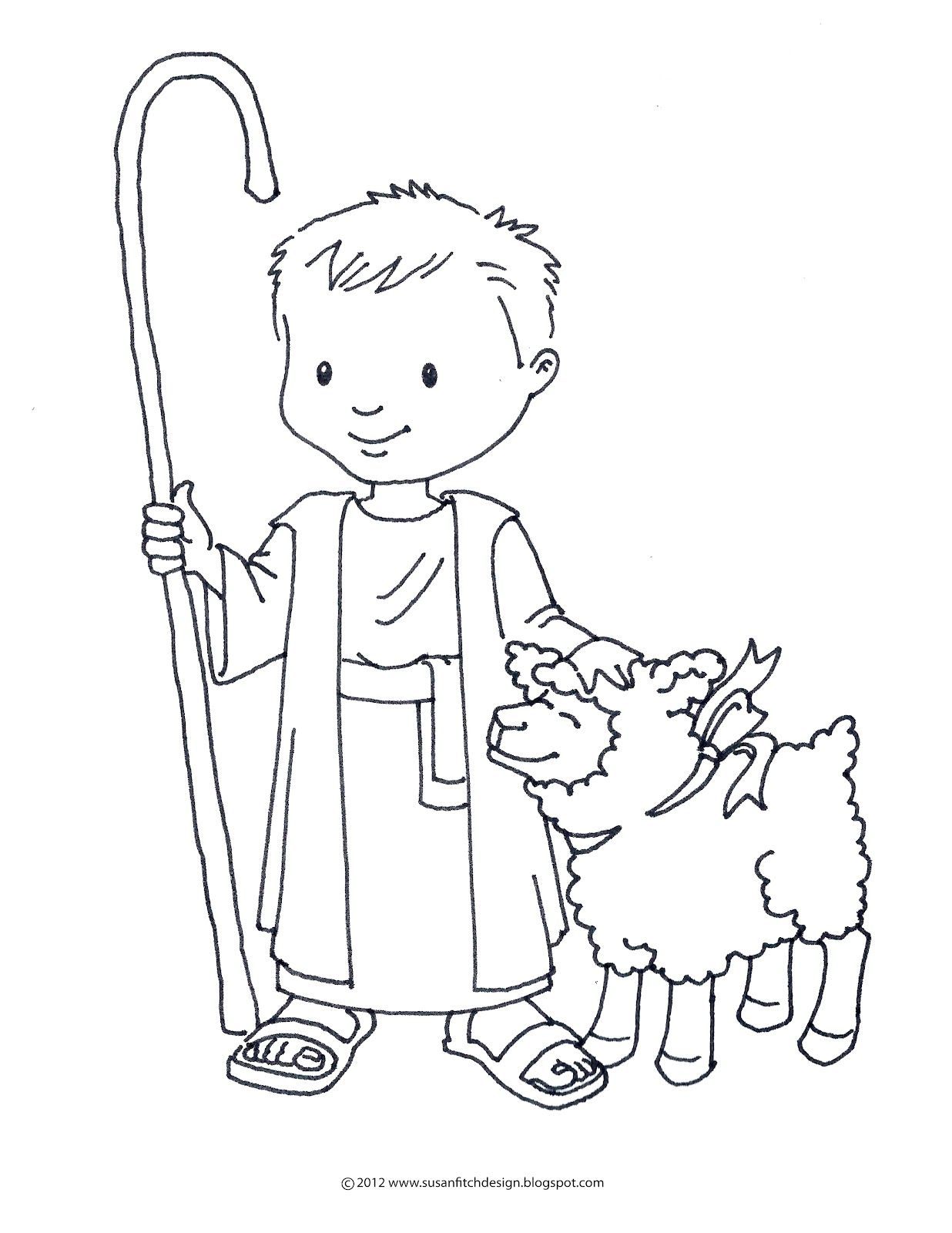 shepherd and sheep coloring page - shepard david coloring sheet google search coloring