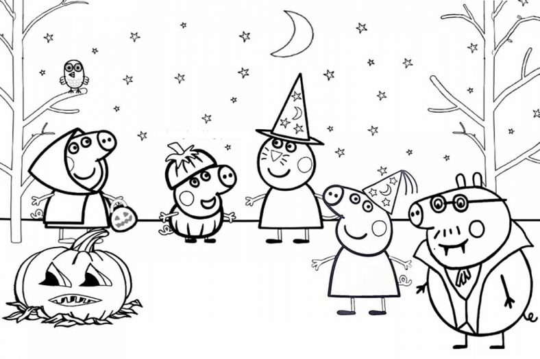 Free Peppa Pig Coloring Pages To Print 101 Coloring Halloween Coloring Pictures Peppa Pig Coloring Pages Cartoon Coloring Pages
