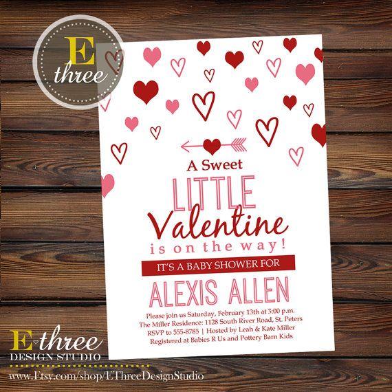 Printable Valentine S Baby Shower Invitation Valentine Themed