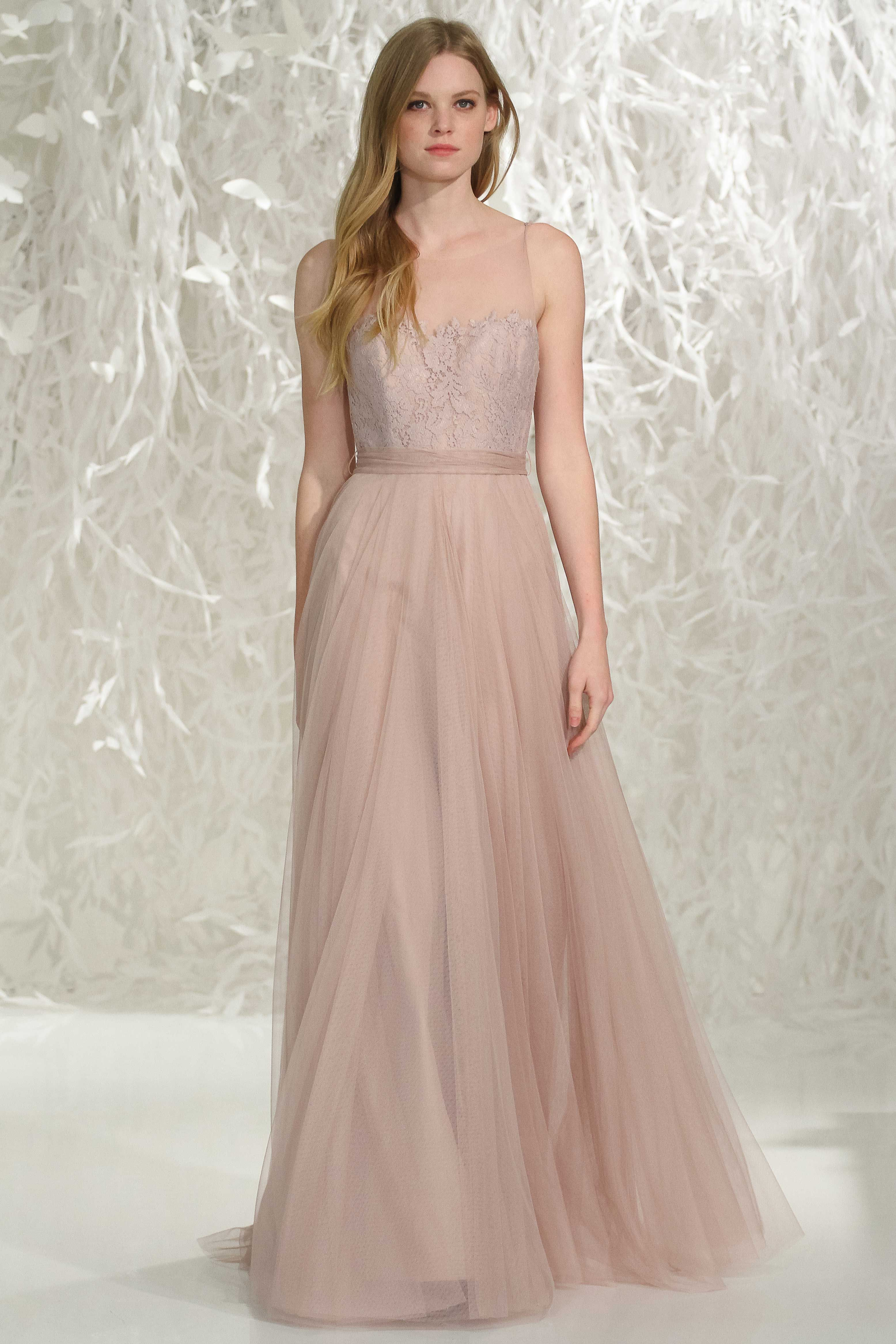 Graceful lace and chiffon bridesmaid gowns by watters 2016 gowns graceful lace and chiffon bridesmaid gowns by watters 2016 ombrellifo Choice Image