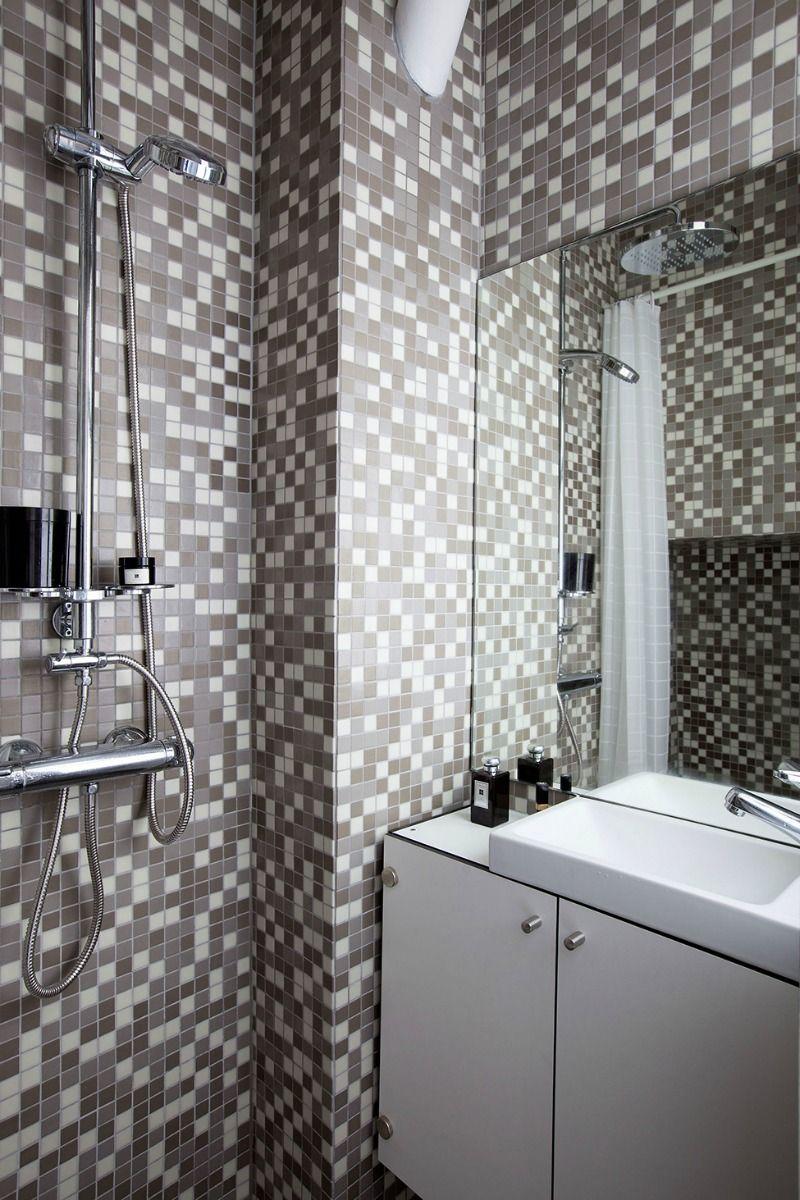 Petit Appartement Compact Qui A Tout Decorchambre In 2020 Badezimmer Innenausstattung Wohnung Kleine Wohnung