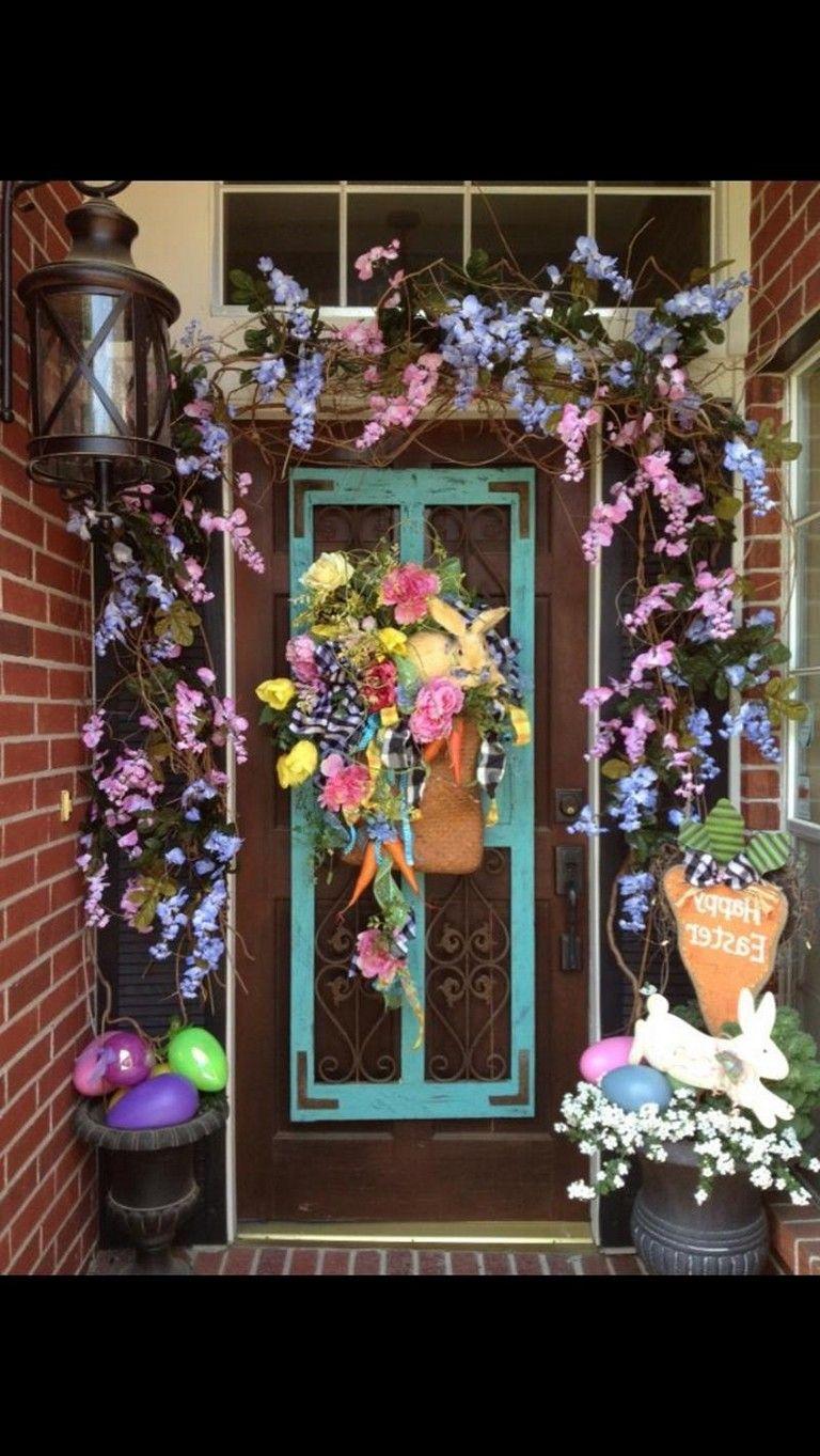 32 Awesome Diy Front Door Easter Decorating Ideas Easter Crafts Diy Easter Diy Fun Diys