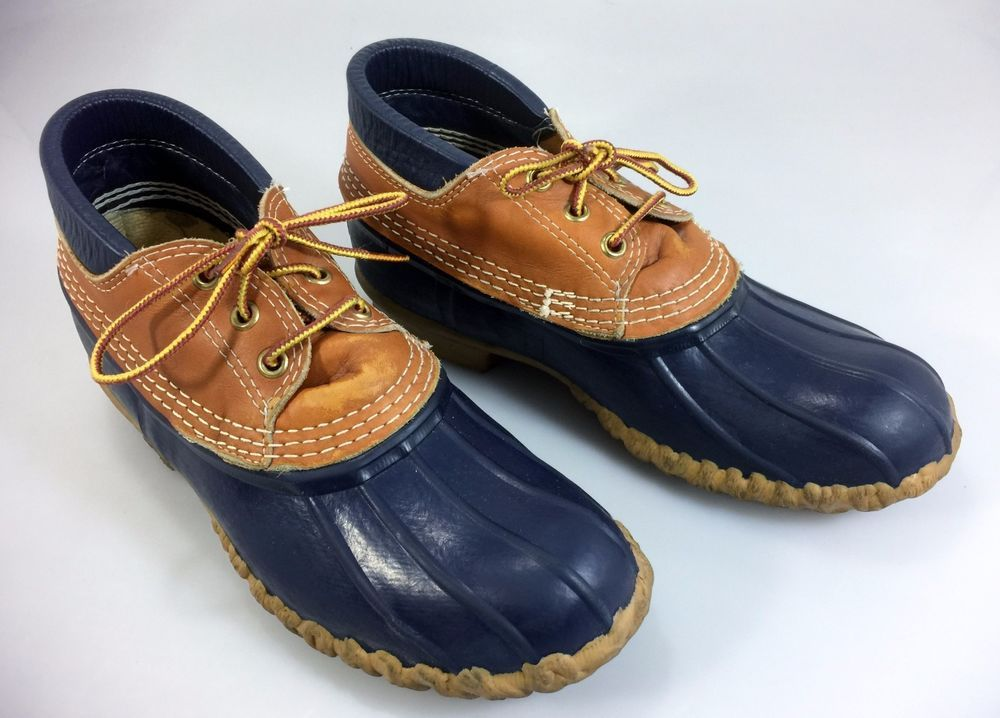 b7640611a60 Bean Boots Duck Ankle Boots 7 Womens Blue and Tan Leather #BeanBoots ...
