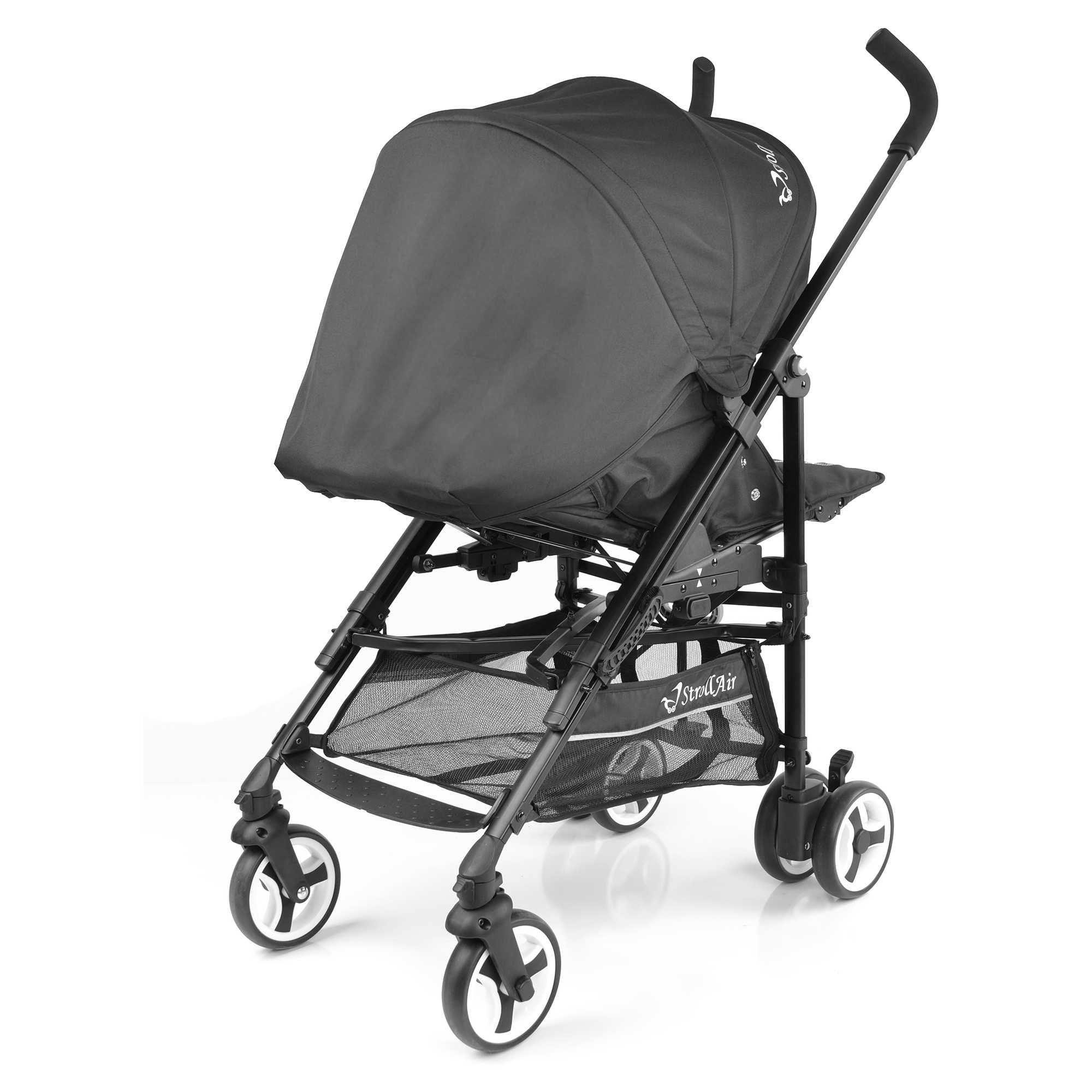 StrollAir ReVu Reversible Umbrella Stroller in Black