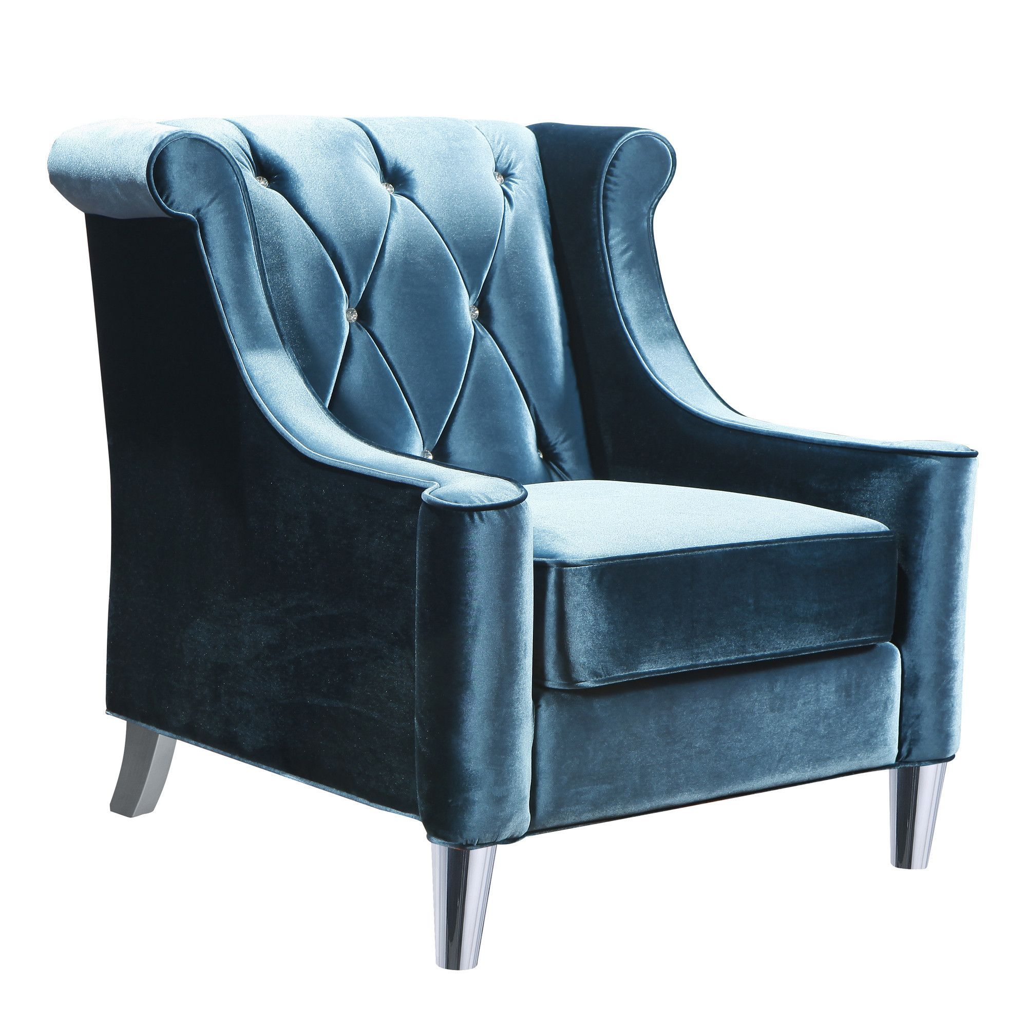 Best Buy Armen Living Lc8441Blue Barrister Chair In Blue Velvet 400 x 300
