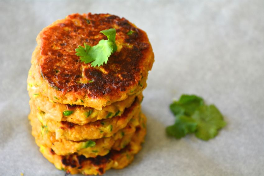 Zucchini Chickpea Fritters from Yes, I am Vegan
