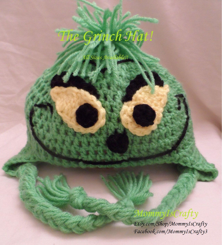 The Grinch Inspired Crochet Hats (Kids). $18.00, via Etsy.   Crochet ...