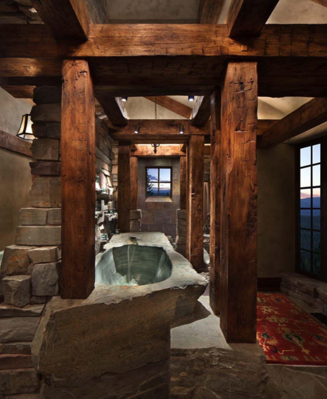 Ein verträumter Bergurlaub in Montana: Great Northern Lodge #rusticbathroomdesigns