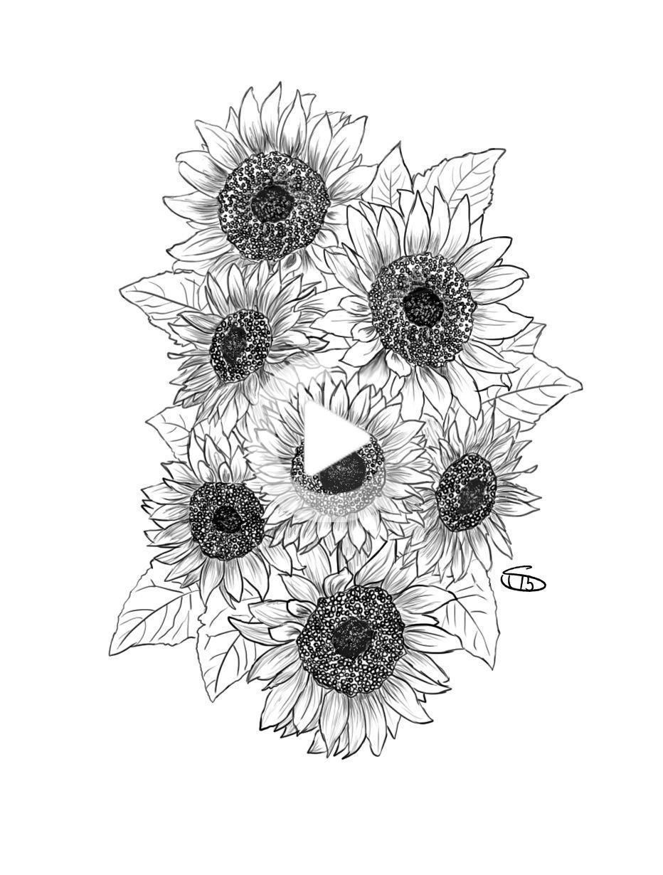 Photo of Pictures on request black and white sunflower tattoo | realists … –  Pictures on request black