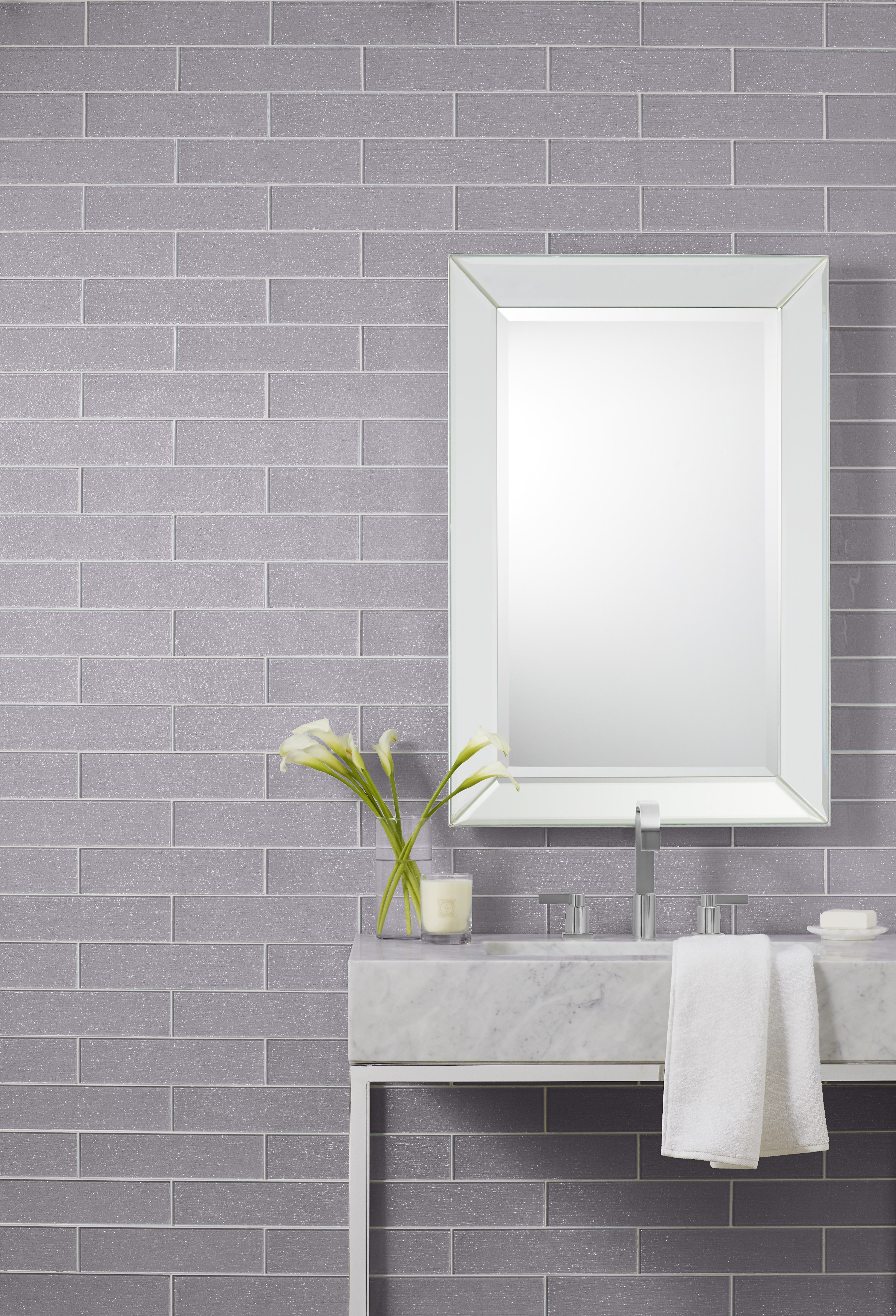 Annie Selke Glam Glass Grey Is A Stunning Wall Tile Collection With An Interesting Backstory Inspired By The Argento Throw Fr Glass Wall Wall Tiles Grey Glass