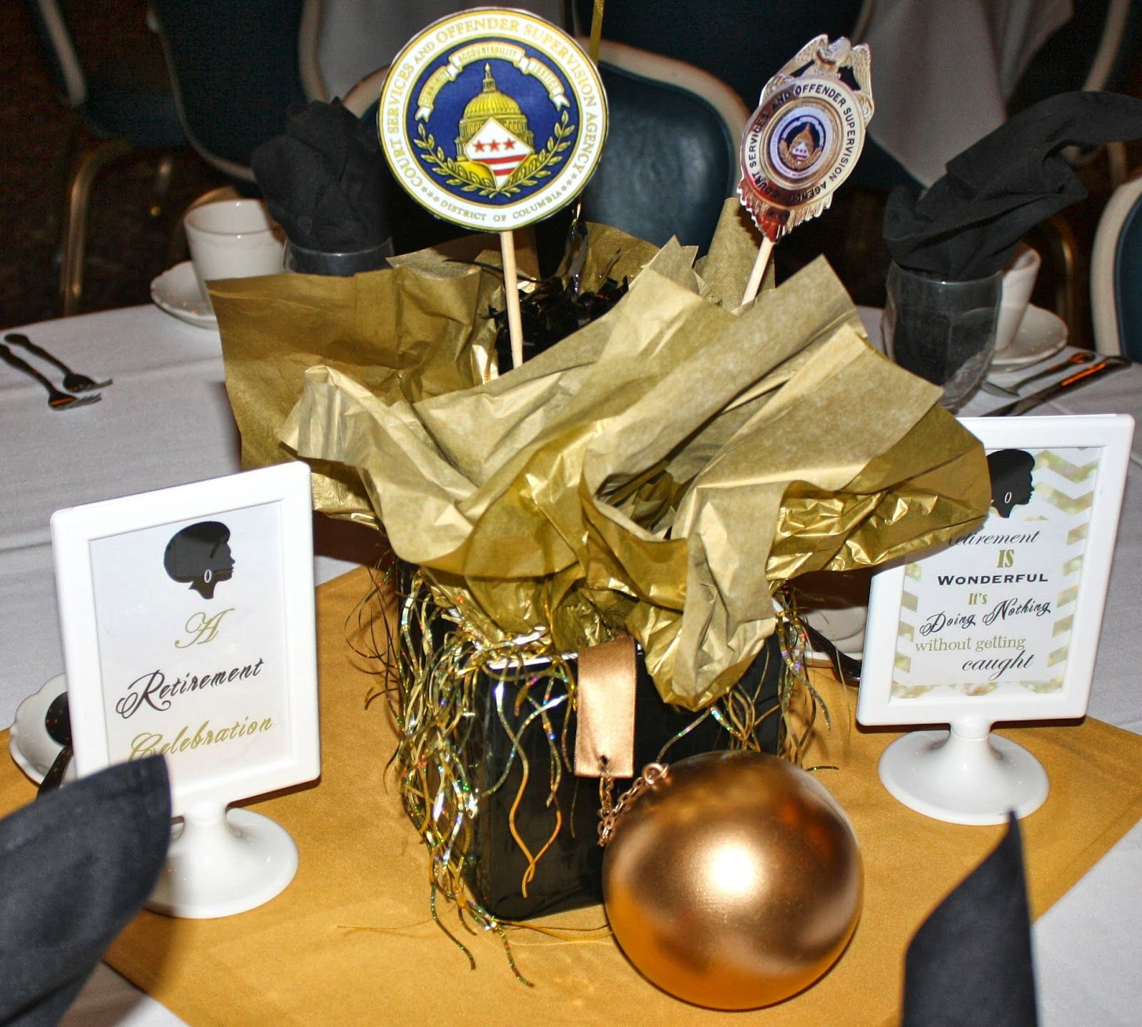 centerpieces for a retirement party google search