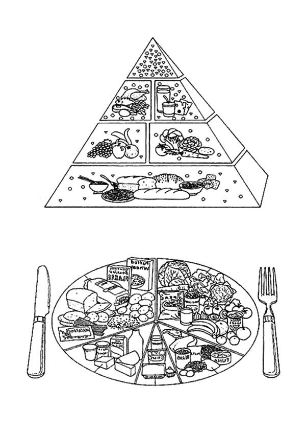 Food Guide Pyramid A Guide To Daily Meal Coloring Pages Download Print Online Coloring Pages For Free In 2020 Online Coloring Pages Coloring Pages Online Coloring