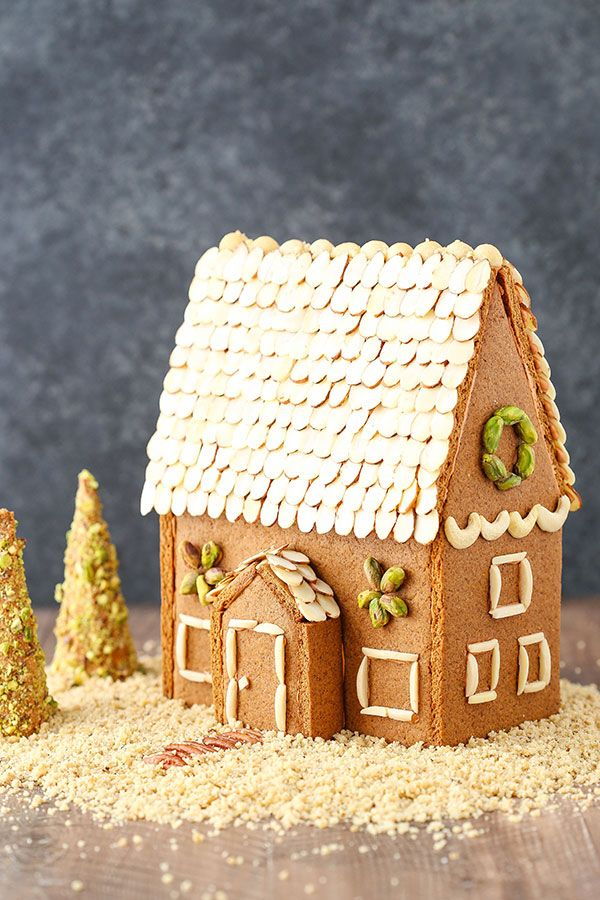 Nutty Gingerbread House Recipe Gingerbread