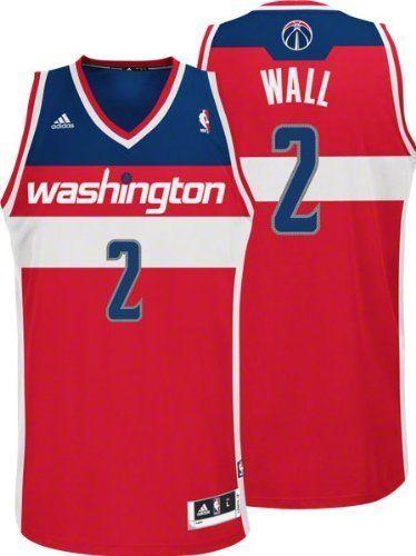 2075dd727 John Wall Washington Wizards  2 Revolution 30 Swingman Adidas NBA  Basketball Jersey (Road Red