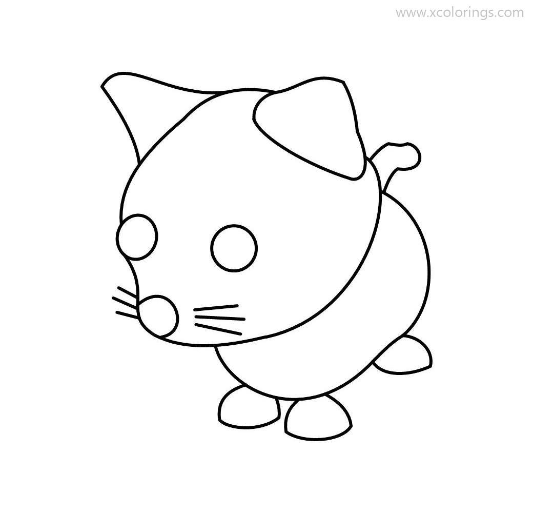 Roblox Adopt Me Coloring Pages Pink Cat In 2020 Coloring Pages Pink Cat Roblox
