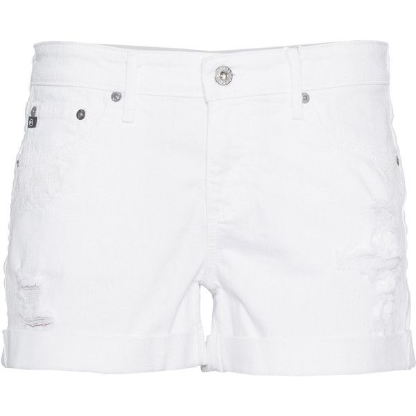 distressed denim shorts - White AG - Adriano Goldschmied GQVXaG