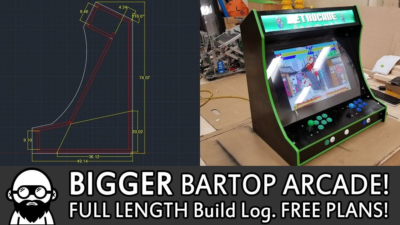 Free updated plans and build log video for a Bigger Bartop ...