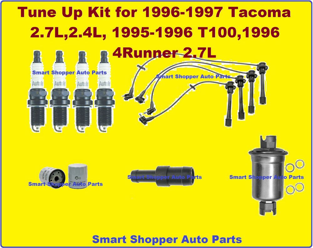 Tune Up Kit 96 Toyota 4 Runner T100 Tacoma OIl, Fuel Filter Spark Plug PCV