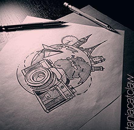 Photo of 35 Trendy Travel Tattoo Sketch
