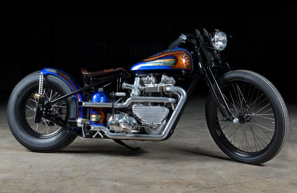 Hell Kustom Triumph Bonneville 1960 By Angry Monkey Motorcycle