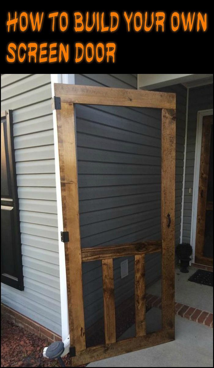 Handmade Screen Door Diy Screen Door Wooden Screen Door