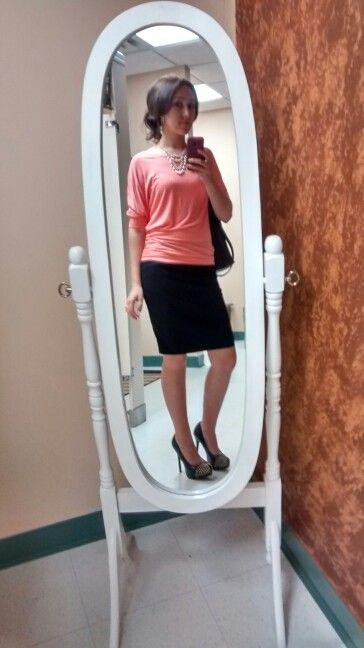 Rue 21 top, forever 21 pencil skirt, pumps from payless