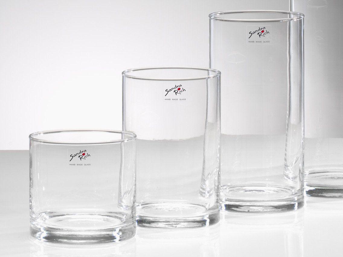 glasvase cyli glas vase tischvase blumenvase. Black Bedroom Furniture Sets. Home Design Ideas