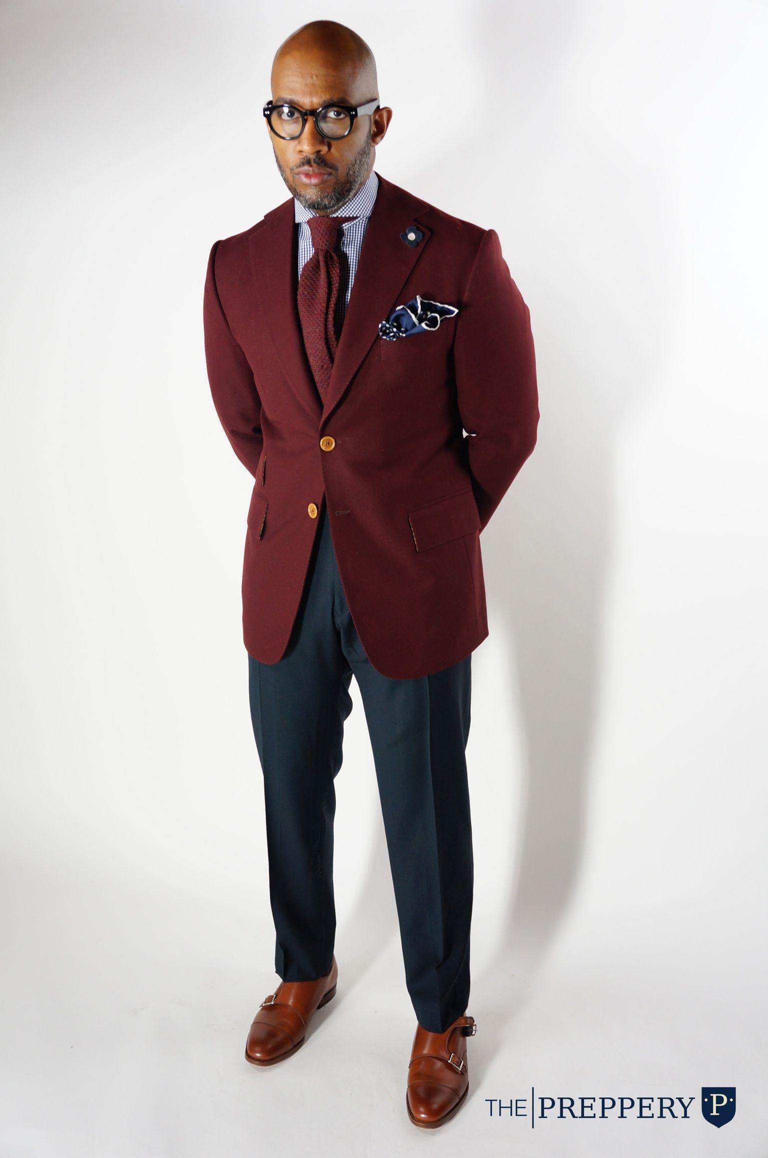 Burgundy Blazer The Preppery Men 39 S Fashion Pinterest
