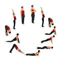 yoga routine  yoga asanas and poses  surya namaskar