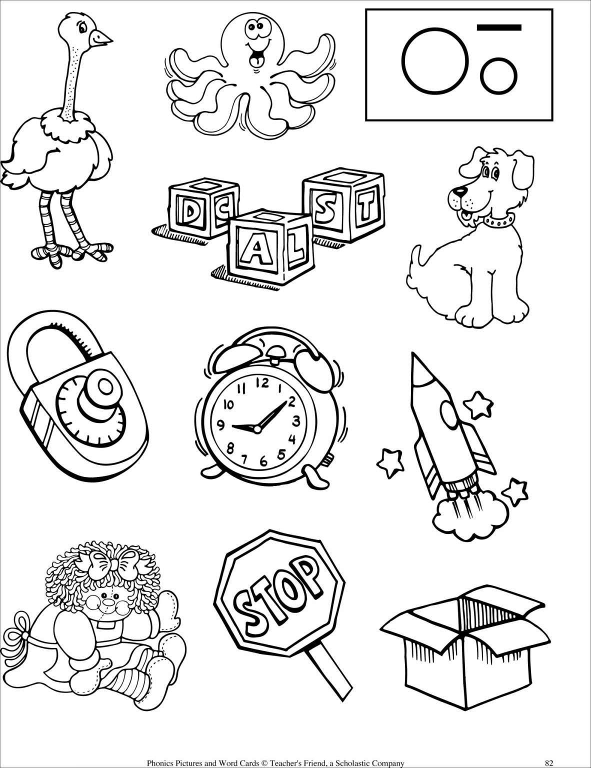 Preschool Worksheet With Short Words And Letter Worksheets