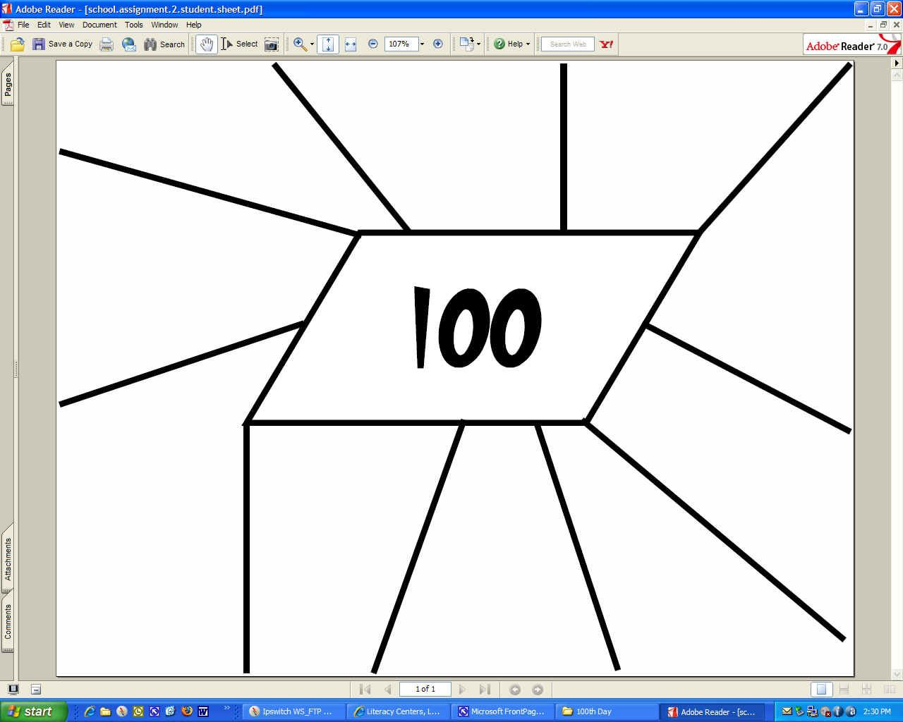 100 Snack Sheet 100 Day Booklet And More Activities