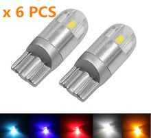 Us 6 60 6pcs Car Styling W5w Led T10 3030 2smd Auto Lamps 168 194 Bulbs Plate Light Parking Fog Light Auto Univera Car Bulbs Al Car Lights Led Lights T10 Led