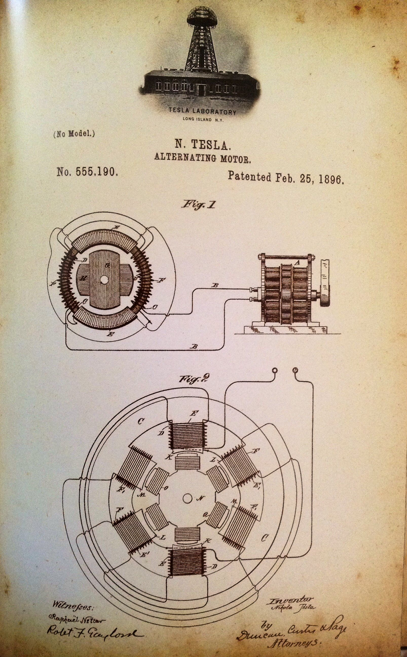 patent for alternating motor nikola tesla 1896 steampunk rh pinterest com
